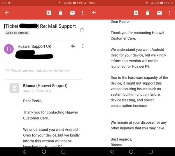 Huawei email
