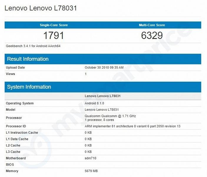 Топовый смартфон Lenovo Z5 Pro может получить не самую топовую платформу Qualcomm