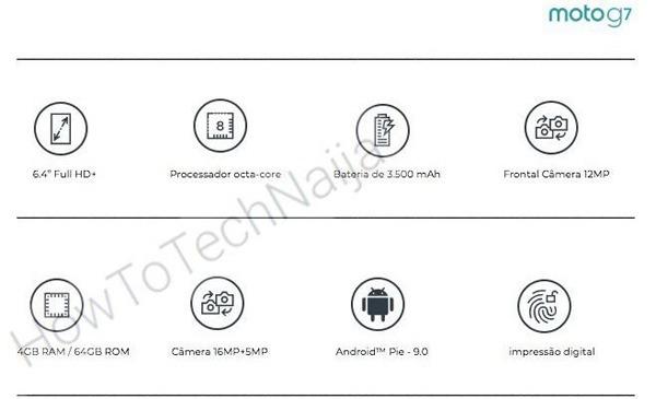 Moto G7 получит очень большой экран с монобровью