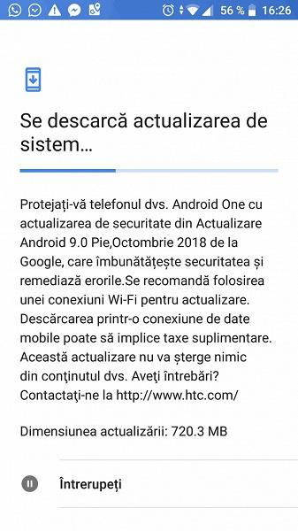 HTC U11 Life первым из смартфонов HTC получил ОС Android 9.0
