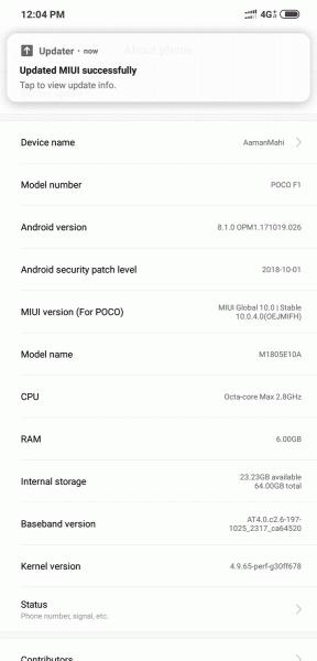 Дешевый флагман Xiaomi Pocophone F1 получил стабильную версию MIUI 10