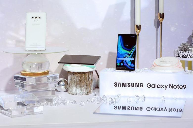 Смартфон Samsung Galaxy Note9 в белом цвете представлен официально