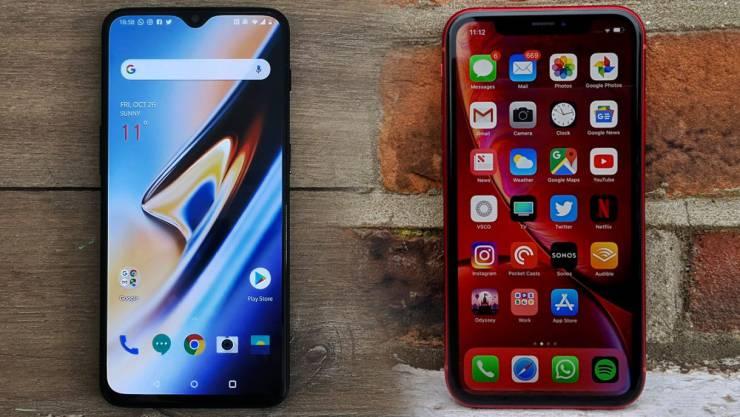 Кто быстрее - OnePlus 6T или iPhone XR?