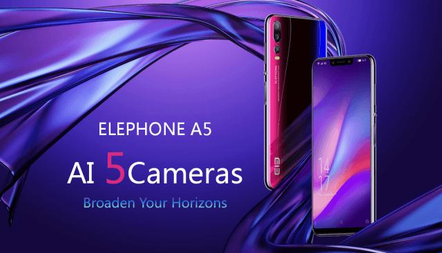Пятикамерный смартфон Elephone A5 оценили в 0