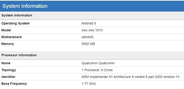 Vivo готовит новый смартфон с 10 Гбайт оперативной памяти