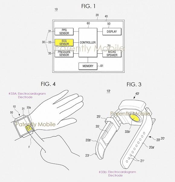 Samsung патентует умные часы с функцией электрокардиографии
