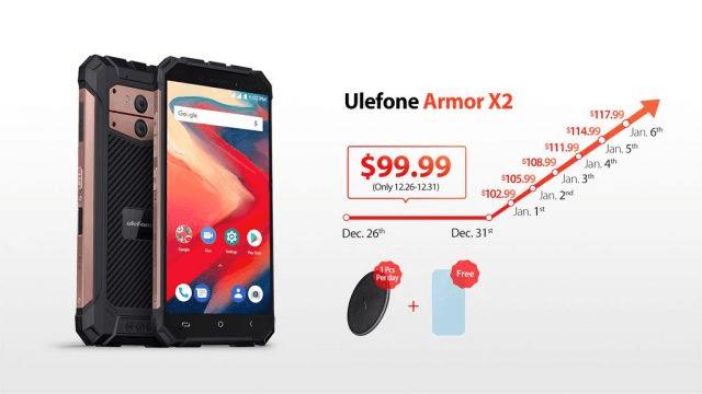 100-долларовый неубиваемый смартфон Ulefone Armor X2 получил модуль NFC и аккумулятор емкостью 5000 мА•ч