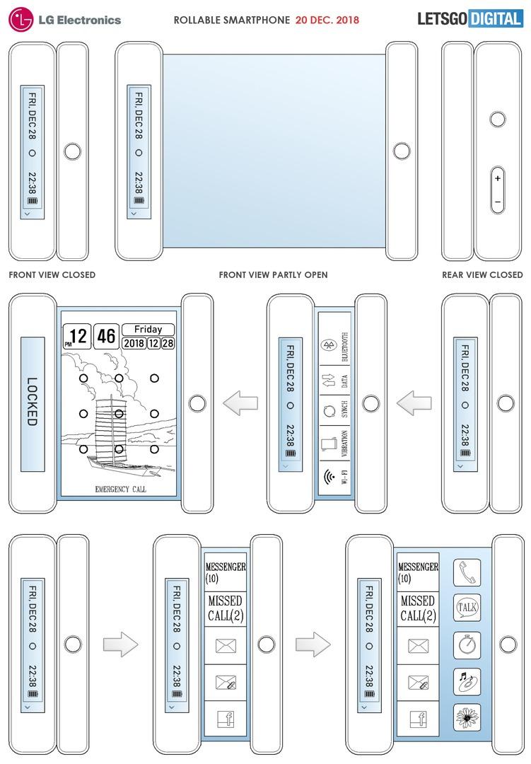 LG может выпустить сворачивающийся в трубочку смартфон