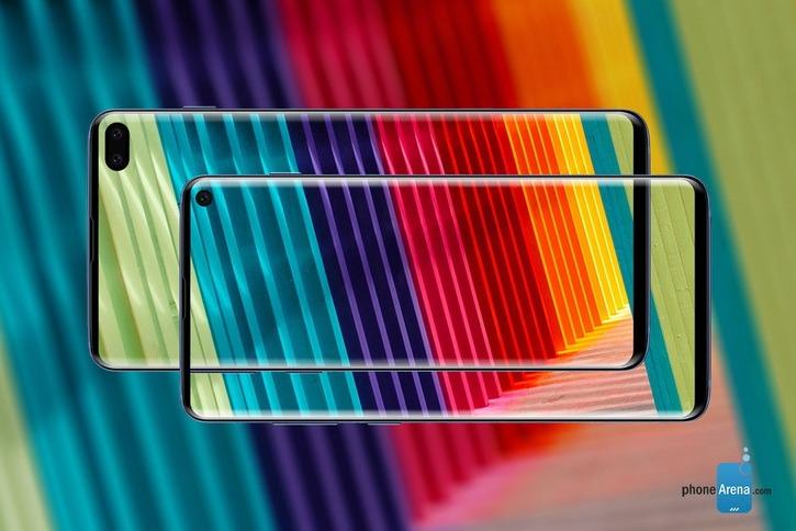 Новые рендеры и габариты Samsung Galaxy S10 и S10+