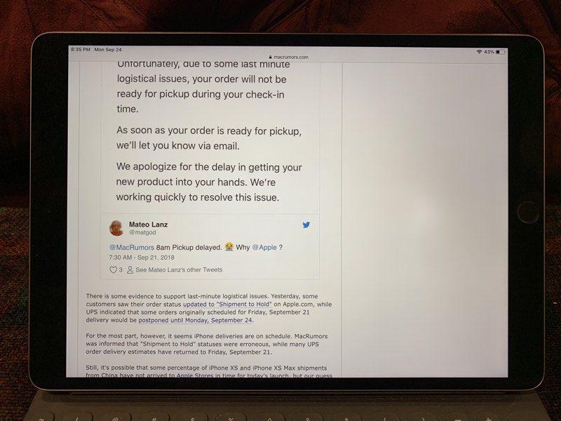 Пользователи прошлогодних iPad Pro жалуются на проблемы с экраном