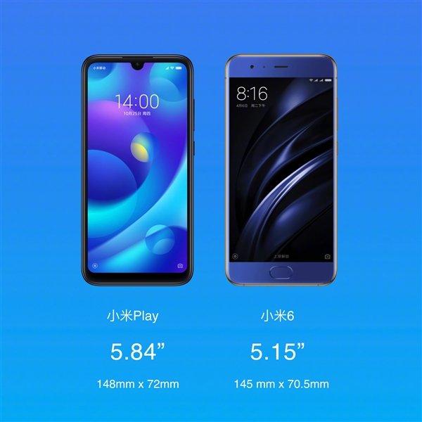 Смартфон Xiaomi Play представлен официально: первый смартфон на SoC MediaTek Helio P35 и первый Xiaomi с каплевидным вырезом экрана