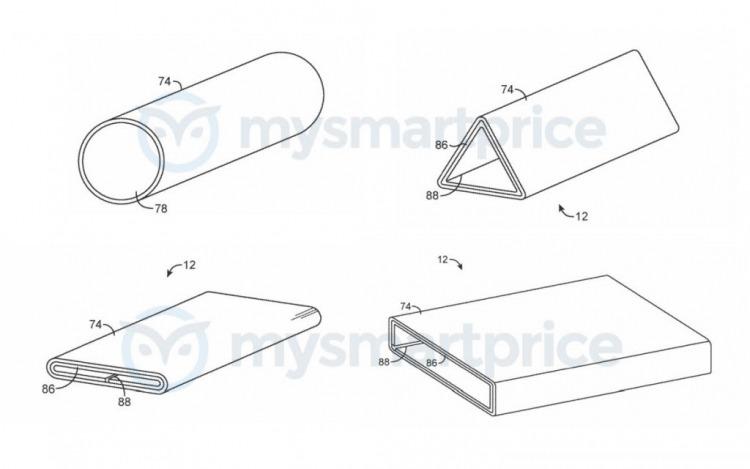 Apple запатентовала странное устройство с экраном, сгибающимся на 360 градусов
