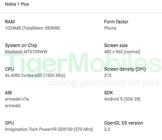 Nokia 1 Plus: первая информация о новом самом доступном смартфоне HMD Global
