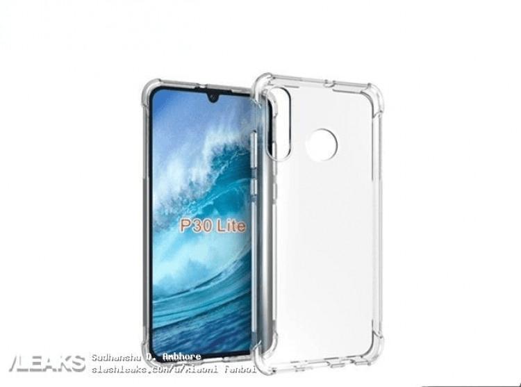 Слили первые фото лицевой панели и чехла для Huawei P30 Lite