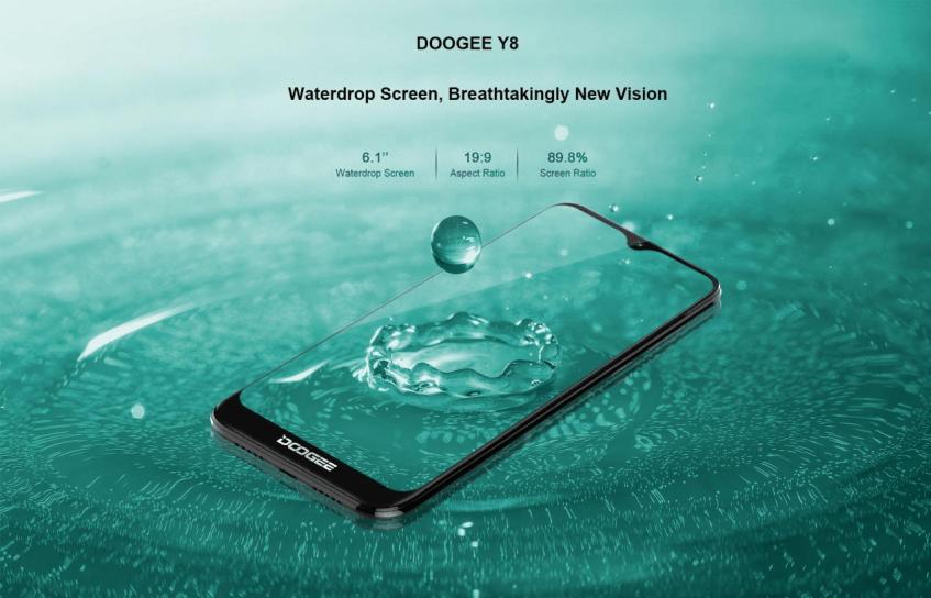 Doogee Y8 получил экран с каплевидным вырезом и Android 9.0 Pie при цене