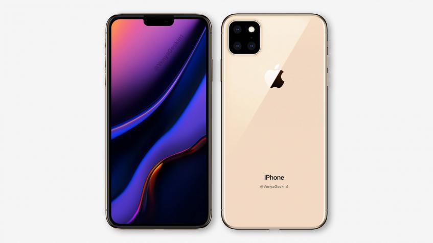 Опубликованы рендеры iPhone XI: по-прежнему большой вырез экрана и тройная камера