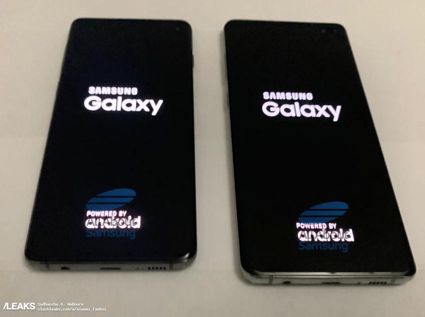 Флагманы Samsung Galaxy S10 и Galaxy S10+ во включенном состоянии позируют на качественных живых фотографиях под разными углами