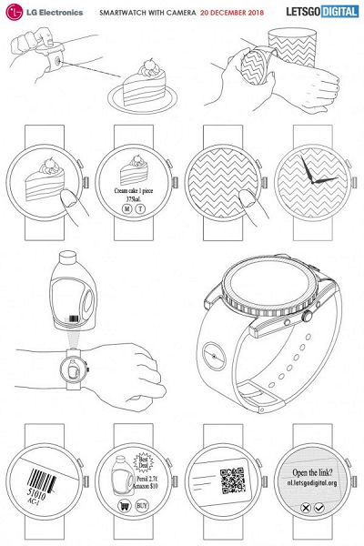 Опубликованы изображения и описание умных часов LG с инновационной камерой