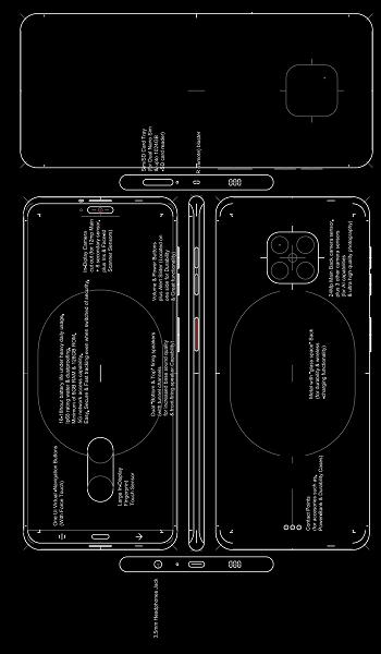 Схематическое изображение и подписи к нему говорят о том, что Huawei превратит смартфон Mate 30 Pro в флагман мечты