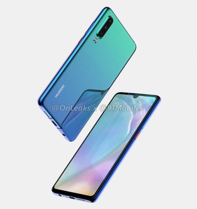 Новые данные о смартфонах Huawei P30 и P30 Pro: экран OLED и до 12 Гбайт ОЗУ