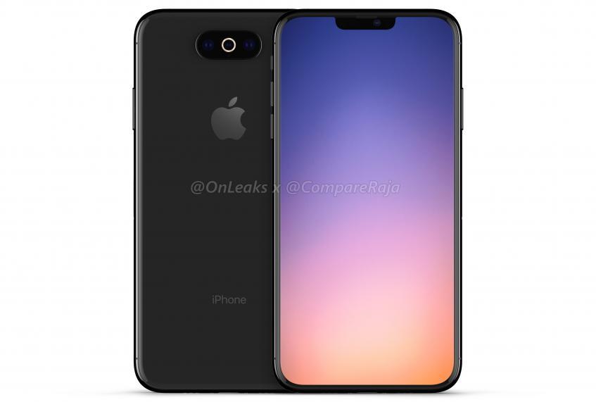 Ещё один вариант iPhone XI от @OnLeaks. Теперь в стиле LG G6!