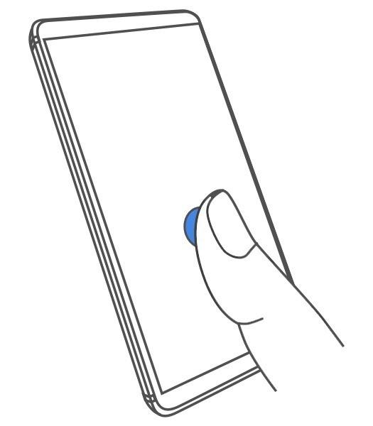 Три варианта анимации сканера отпечатка в экране Nokia 9 PureView