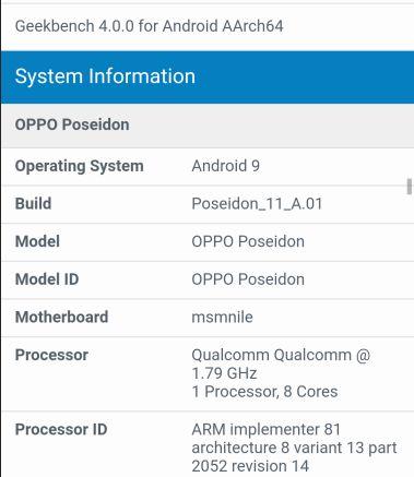 Oppo Poseidon будет первым смартфоном компании с SoC Snapdragon 855
