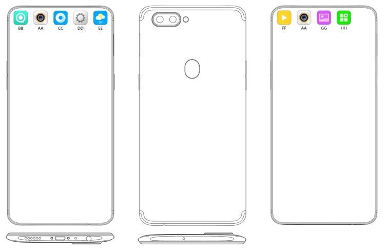 OPPO предложила способ маскировки отверстия в экране смартфонов для селфи-камеры