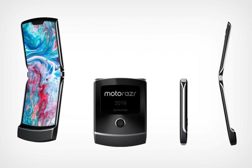 Новый телефон-раскладушка Motorola RAZR появился на качественных изображениях