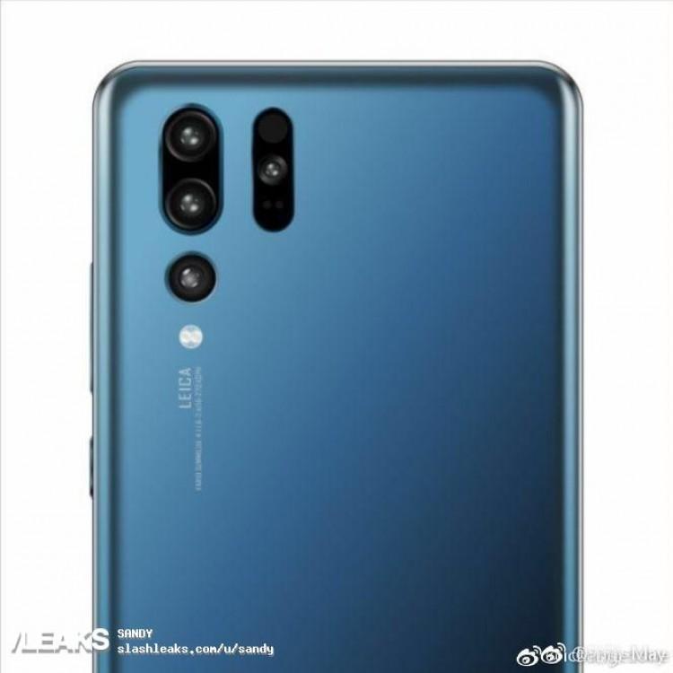Рендер Huawei P30 демонстрирует тройную камеру и расположение датчиков – фото 1