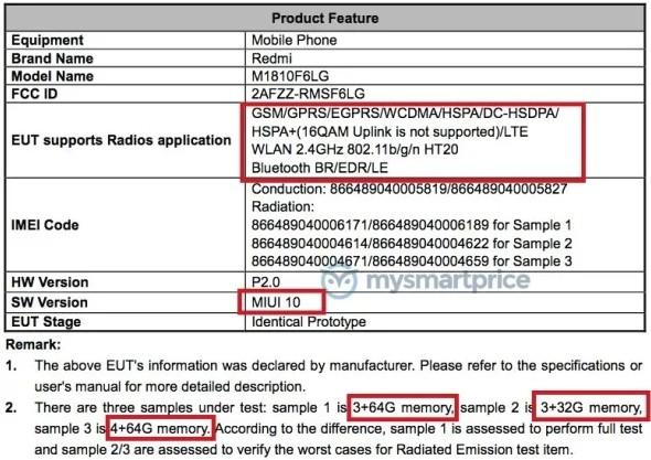 Раскрыты ключевые характеристики смартфона Xiaomi Redmi 7