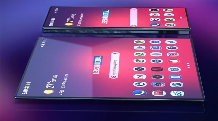 Гибкий смартфон Samsung Galaxy F показался на рендерах