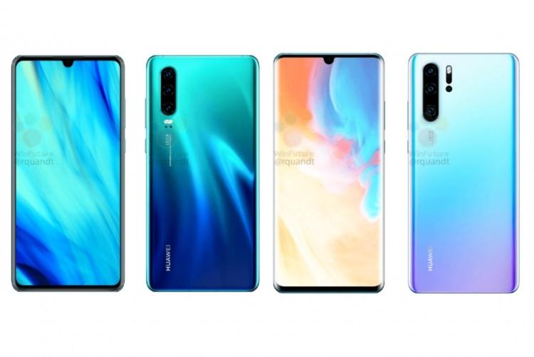 Пресс-фото Huawei P30 Pro подтвердили каплевидный вырез и массив из четырёх модулей у камеры