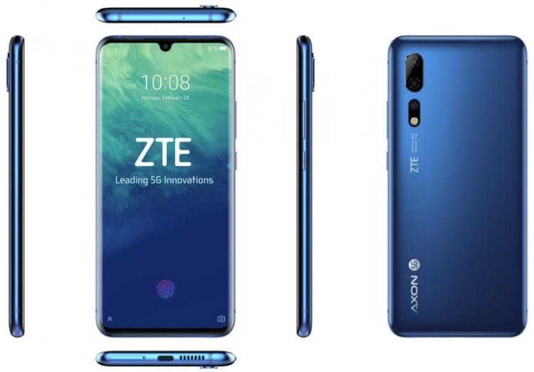 MWC 2019: смартфон ZTE Axon 10 Pro 5G для сетей пятого поколения