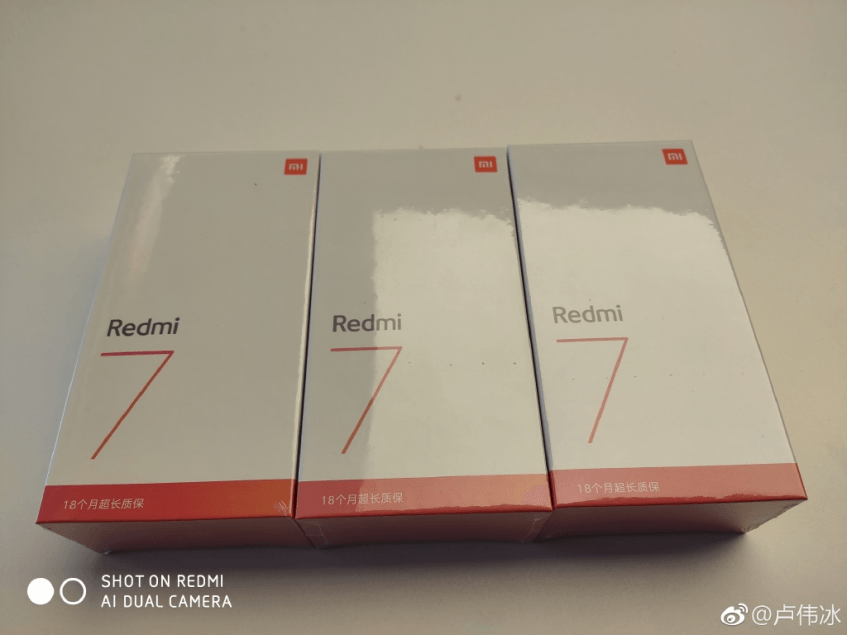 Вице-президент Xiaomi опубликовал фото коробки Redmi 7 и рассказал о продленной гарантии на смартфон