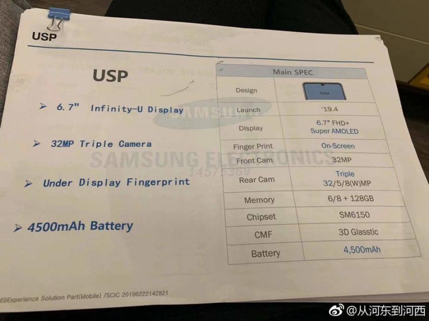 Выносливый смартфон с огромным экраном Samsung Galaxy A60 рассекречен до анонса