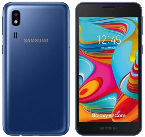 Стали известны характеристики смартфона Samsung Galaxy A2 Core - 1