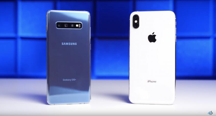 Сравнительный дроп-тест: Samsung Galaxy S10+ и iPhone XS Max – фото 1