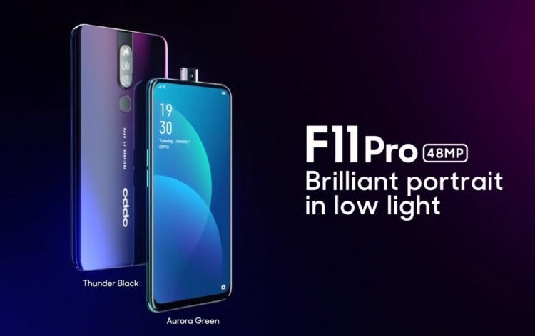 Камера-перископ и безрамочный экран Full HD+: дебют смартфона OPPO F11 Pro