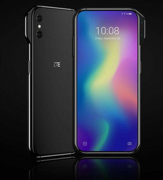 Ухо вместо выреза: опубликован концептуальный рендер смартфона ZTE Axon V с необычным расположением фронтальной камеры