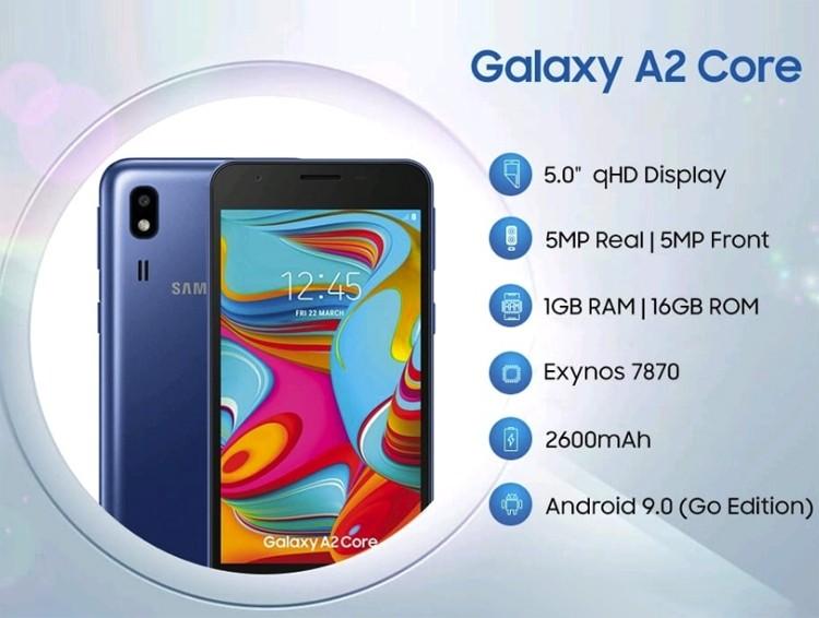 Всего 75 долларов: представлен бюджетный смартфон Samsung Galaxy A2 Core