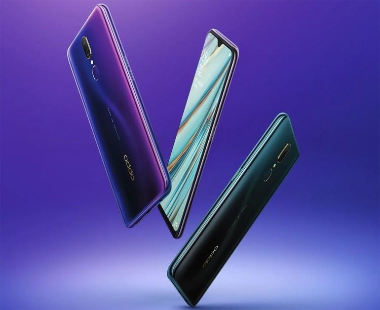 Экран смартфона OPPO A9 занимает более 90% площади фронтальной поверхности