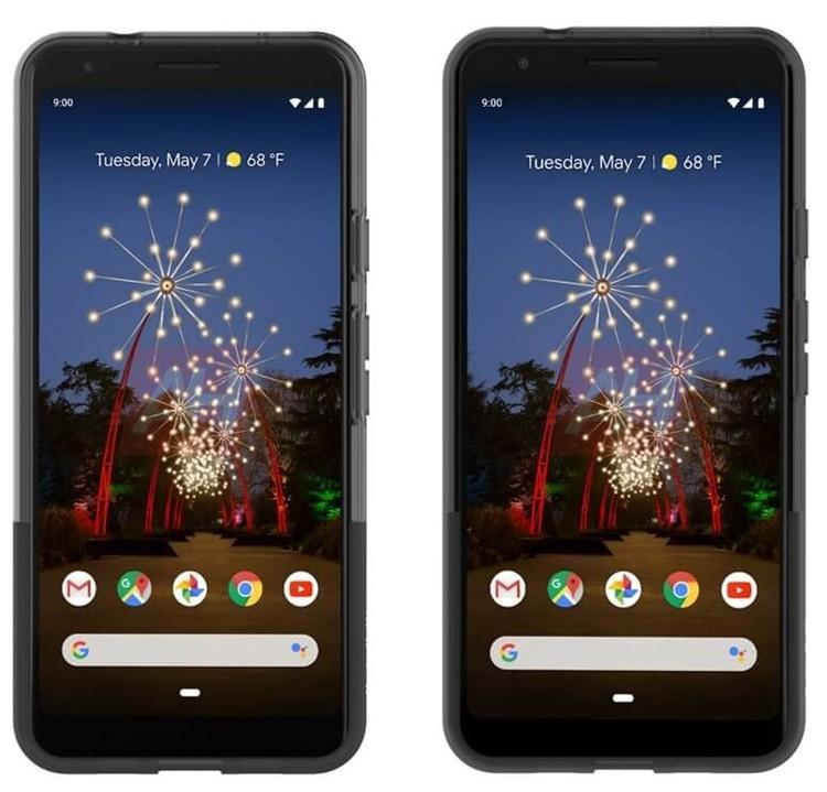 Смартфоны Google Pixel 3a и 3a XL позируют на официальных рендерах