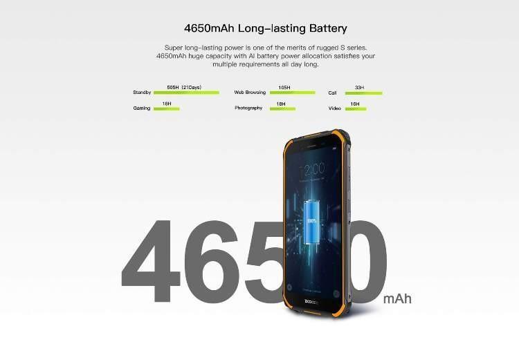 Защищённый смартфон Doogee S40 с батареей на 4650 мА·ч оценен в 0