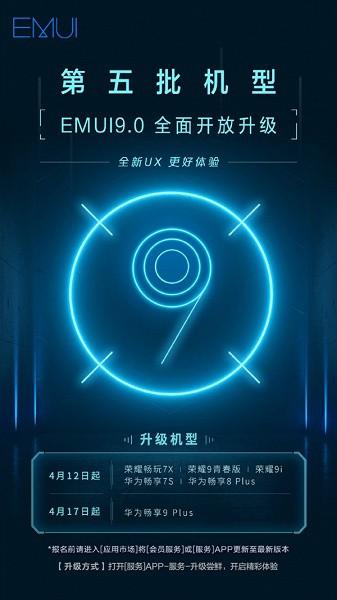 6 смартфонов Huawei и Honor получили обновление EMUI 9.0