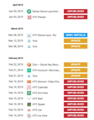 Приложения HTC исчезли из Google Play – фото 1