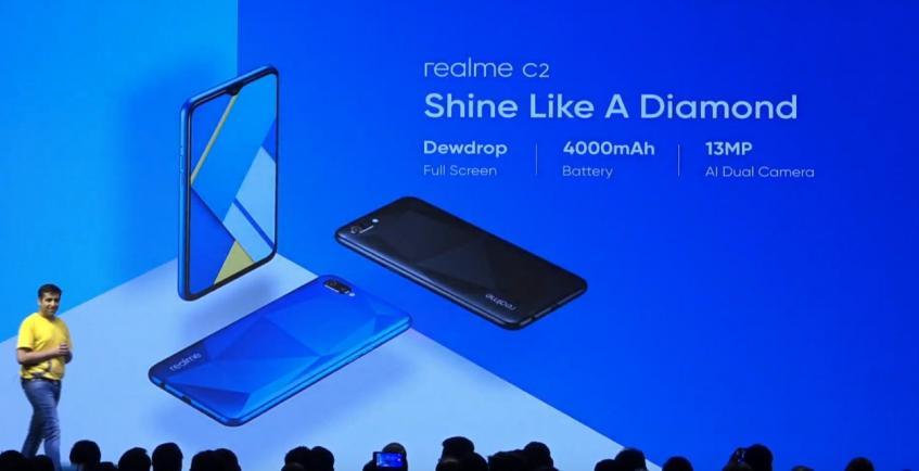 Представлен Realme C2 - бюджетный смартфон с отличной автономностью и выделяющимся дизайном