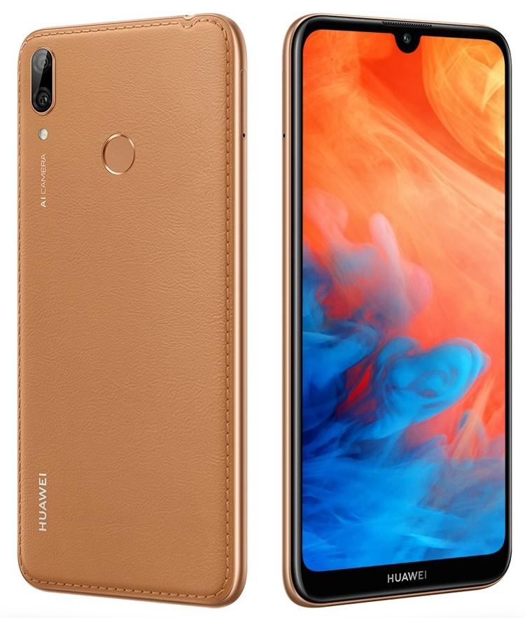 «Кожаная» версия смартфона Huawei Y7 Prime (2019) снабжена 64 Гбайт памяти