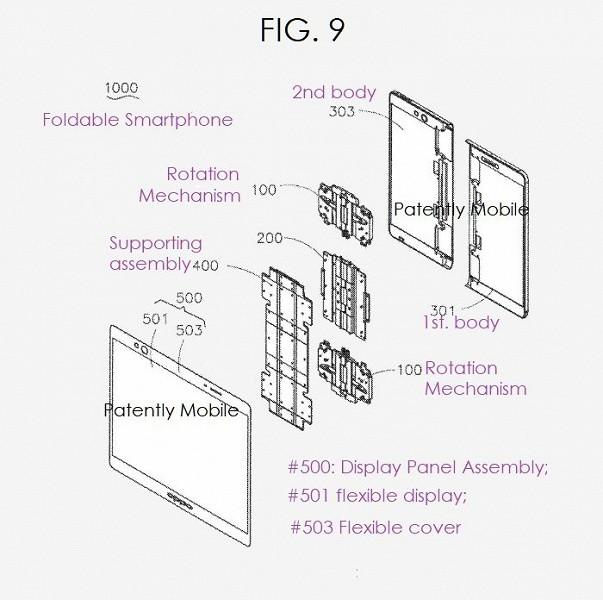 В базе данных патентного ведомства США нашлась заявка на складной смартфон Oppo с гибким экраном