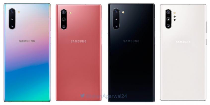 Европейские цены Samsung Galaxy Note 10 и Galaxy Note 10+